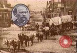 Image of Borax transport by 20 mule teams Death Valley California USA, 1894, second 26 stock footage video 65675040984