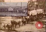 Image of Borax transport by 20 mule teams Death Valley California USA, 1894, second 29 stock footage video 65675040984