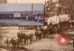 Image of Borax transport by 20 mule teams Death Valley California USA, 1894, second 31 stock footage video 65675040984