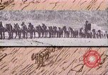 Image of Borax transport by 20 mule teams Death Valley California USA, 1894, second 45 stock footage video 65675040984