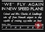 Image of Charles and Anne Lindbergh fly a Lockheed Altair airplane Newark New Jersey USA, 1930, second 2 stock footage video 65675041067