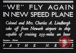 Image of Charles and Anne Lindbergh fly a Lockheed Altair airplane Newark New Jersey USA, 1930, second 3 stock footage video 65675041067