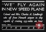 Image of Charles and Anne Lindbergh fly a Lockheed Altair airplane Newark New Jersey USA, 1930, second 4 stock footage video 65675041067