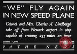 Image of Charles and Anne Lindbergh fly a Lockheed Altair airplane Newark New Jersey USA, 1930, second 5 stock footage video 65675041067