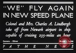Image of Charles and Anne Lindbergh fly a Lockheed Altair airplane Newark New Jersey USA, 1930, second 9 stock footage video 65675041067