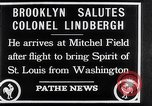 Image of Charles Lindbergh claims Orteig prize Brooklyn New York City USA, 1927, second 3 stock footage video 65675041074