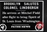 Image of Charles Lindbergh claims Orteig prize Brooklyn New York City USA, 1927, second 4 stock footage video 65675041074
