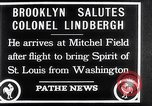 Image of Charles Lindbergh claims Orteig prize Brooklyn New York City USA, 1927, second 5 stock footage video 65675041074