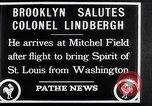 Image of Charles Lindbergh claims Orteig prize Brooklyn New York City USA, 1927, second 6 stock footage video 65675041074