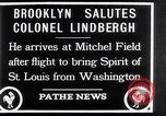 Image of Charles Lindbergh claims Orteig prize Brooklyn New York City USA, 1927, second 9 stock footage video 65675041074