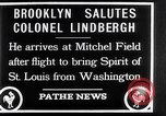 Image of Charles Lindbergh claims Orteig prize Brooklyn New York City USA, 1927, second 10 stock footage video 65675041074