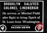 Image of Charles Lindbergh claims Orteig prize Brooklyn New York City USA, 1927, second 11 stock footage video 65675041074