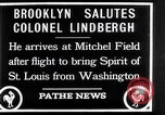 Image of Charles Lindbergh claims Orteig prize Brooklyn New York City USA, 1927, second 12 stock footage video 65675041074