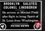 Image of Charles Lindbergh claims Orteig prize Brooklyn New York City USA, 1927, second 13 stock footage video 65675041074