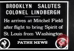 Image of Charles Lindbergh claims Orteig prize Brooklyn New York City USA, 1927, second 14 stock footage video 65675041074