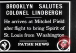Image of Charles Lindbergh claims Orteig prize Brooklyn New York City USA, 1927, second 15 stock footage video 65675041074