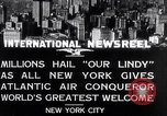 Image of Charles Lindbergh ticker tape parade New York City USA, 1927, second 1 stock footage video 65675041075