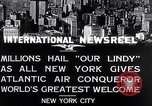 Image of Charles Lindbergh ticker tape parade New York City USA, 1927, second 2 stock footage video 65675041075