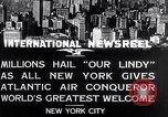 Image of Charles Lindbergh ticker tape parade New York City USA, 1927, second 4 stock footage video 65675041075