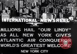 Image of Charles Lindbergh ticker tape parade New York City USA, 1927, second 5 stock footage video 65675041075