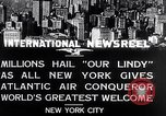 Image of Charles Lindbergh ticker tape parade New York City USA, 1927, second 6 stock footage video 65675041075