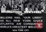 Image of Charles Lindbergh ticker tape parade New York City USA, 1927, second 10 stock footage video 65675041075