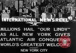 Image of Charles Lindbergh ticker tape parade New York City USA, 1927, second 11 stock footage video 65675041075