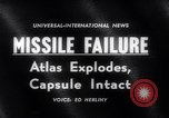 Image of Atlas Missile Cape Canaveral Florida USA, 1961, second 3 stock footage video 65675041167