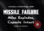Image of Atlas Missile Cape Canaveral Florida USA, 1961, second 5 stock footage video 65675041167