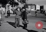 Image of German police officer directs traffic Berlin Germany, 1952, second 13 stock footage video 65675041180