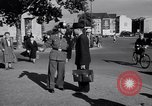 Image of German police officer directs traffic Berlin Germany, 1952, second 15 stock footage video 65675041180