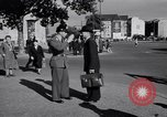 Image of German police officer directs traffic Berlin Germany, 1952, second 16 stock footage video 65675041180