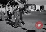 Image of German police officer directs traffic Berlin Germany, 1952, second 17 stock footage video 65675041180