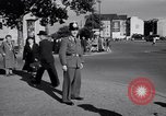 Image of German police officer directs traffic Berlin Germany, 1952, second 18 stock footage video 65675041180