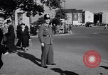 Image of German police officer directs traffic Berlin Germany, 1952, second 19 stock footage video 65675041180