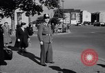 Image of German police officer directs traffic Berlin Germany, 1952, second 20 stock footage video 65675041180