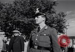 Image of German police officer directs traffic Berlin Germany, 1952, second 22 stock footage video 65675041180