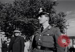 Image of German police officer directs traffic Berlin Germany, 1952, second 23 stock footage video 65675041180