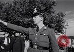 Image of German police officer directs traffic Berlin Germany, 1952, second 24 stock footage video 65675041180
