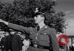 Image of German police officer directs traffic Berlin Germany, 1952, second 25 stock footage video 65675041180