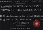 Image of Charles Dawes Sudbury England United Kingdom, 1929, second 4 stock footage video 65675041242