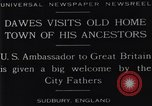 Image of Charles Dawes Sudbury England United Kingdom, 1929, second 8 stock footage video 65675041242