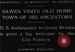 Image of Charles Dawes Sudbury England United Kingdom, 1929, second 9 stock footage video 65675041242