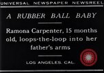 Image of Ramona Carpenter Los Angeles California USA, 1929, second 6 stock footage video 65675041244