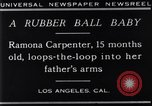 Image of Ramona Carpenter Los Angeles California USA, 1929, second 11 stock footage video 65675041244