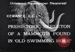 Image of Skeleton of mammoth Kewanee Illinois United States USA, 1933, second 4 stock footage video 65675041252