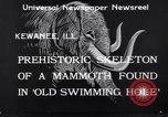 Image of Skeleton of mammoth Kewanee Illinois United States USA, 1933, second 5 stock footage video 65675041252