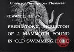 Image of Skeleton of mammoth Kewanee Illinois United States USA, 1933, second 9 stock footage video 65675041252