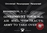Image of Air mail Washington DC USA, 1934, second 2 stock footage video 65675041260