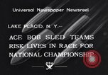 Image of Bobsled Lake Placid New York USA, 1934, second 1 stock footage video 65675041268
